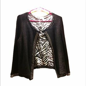 Chico's Black Cardigan With Metal 12